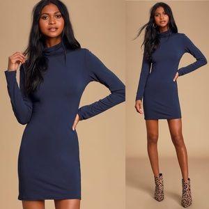 High Hopes Navy Blue Long Sleeve Dress Lulus.com